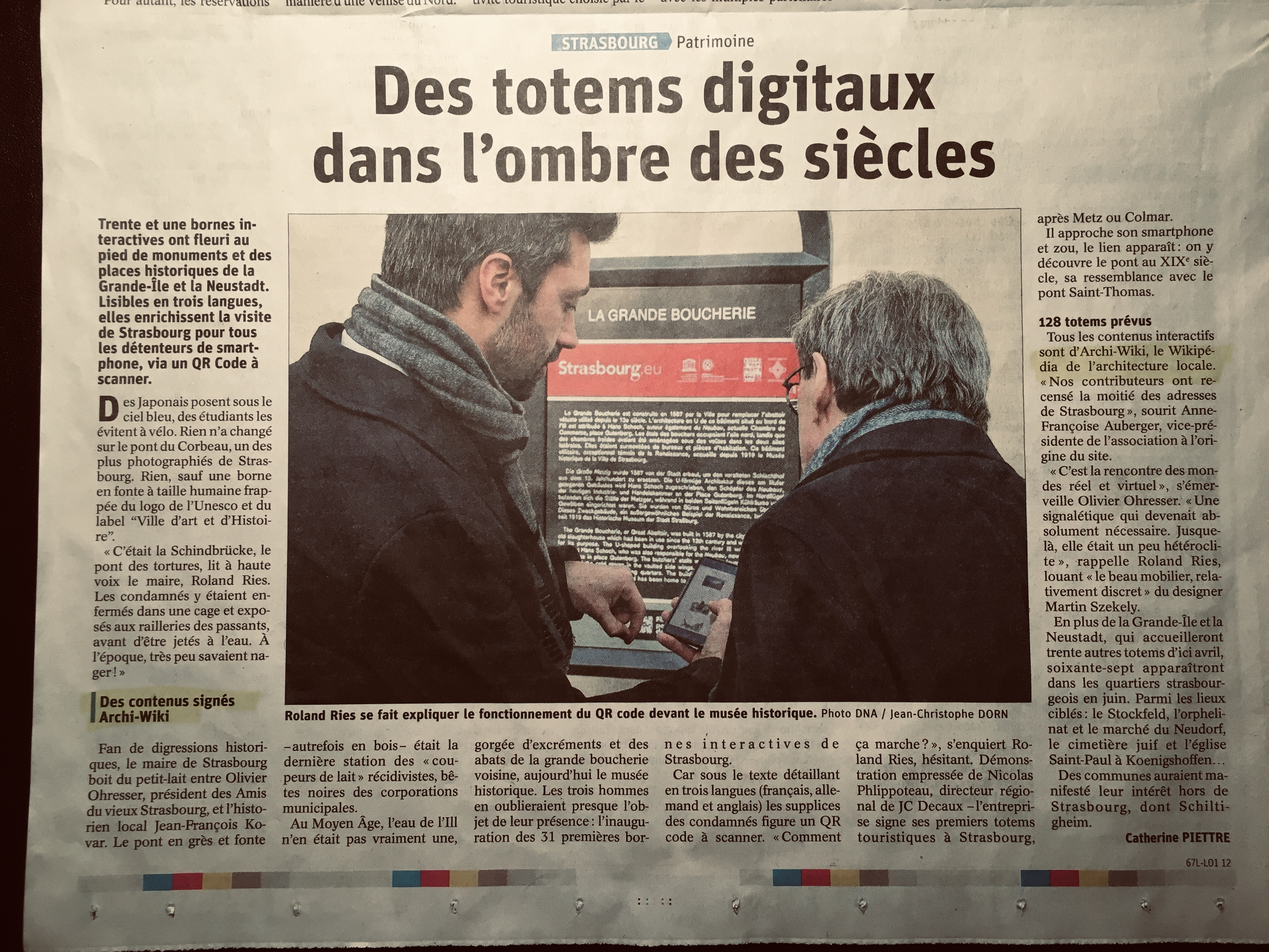 article des DNA du 08/02/2020